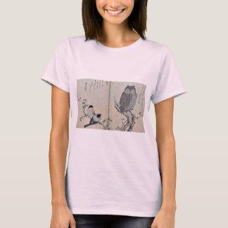 Bullfinch and horned owl by Kitagawa, Utamaro T-Shirt