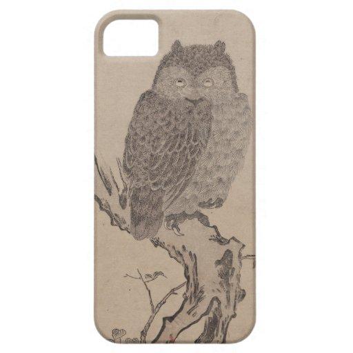 Bullfinch and horned owl - Kitagawa Utamaro iPhone 5 Cover