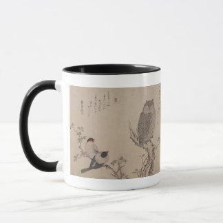 Bullfinch and horned owl - Kitagawa Utamaro Mug
