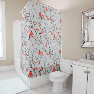Curtains Ideas bird shower curtain : Winter Bird Shower Curtains | Zazzle