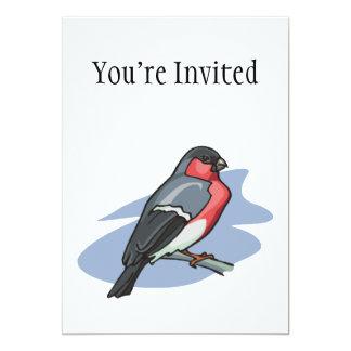 """Bullfinch del pájaro invitación 5"""" x 7"""""""