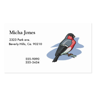 Bullfinch del pájaro tarjetas de visita