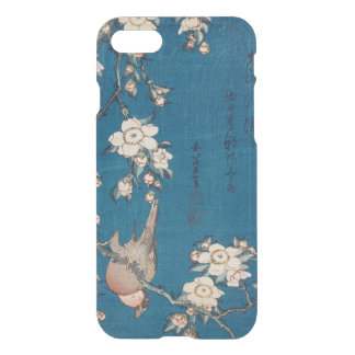 Bullfinch on a Weeping Cherry Branch by Hokusai iPhone 7 Case