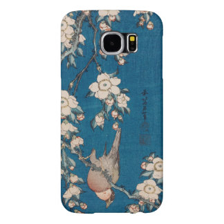 Bullfinch on a Weeping Cherry Branch by Hokusai Samsung Galaxy S6 Case