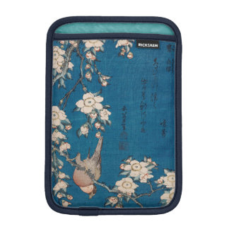 Bullfinch on a Weeping Cherry Branch by Hokusai Sleeve For iPad Mini