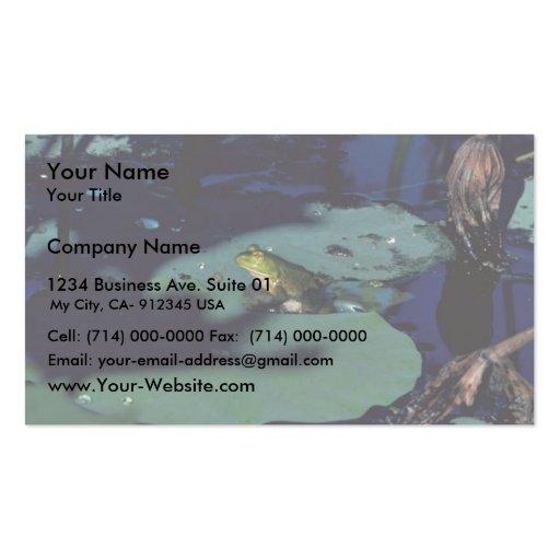 Bullfrog Business Card Template