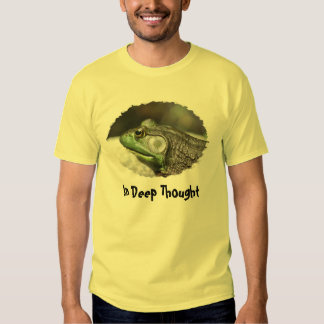 Bullfrog In Deep Thought Funny T-Shirt