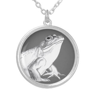 Bullfrog Necklace Frog Art Jewelry & Gifts