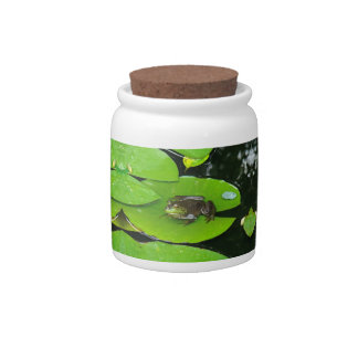 Bullfrog on Lilypads Candy Dishes