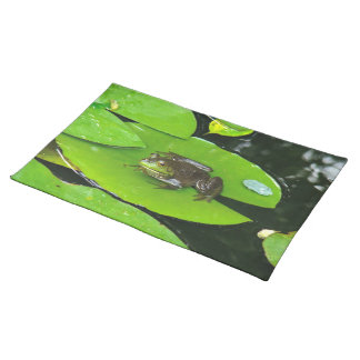 Bullfrog on Lilypads Cloth Placemat