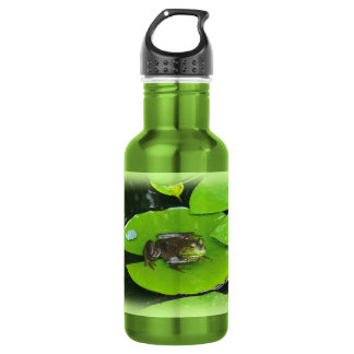 Bullfrog on Lilypads Stainless Steel Water Bottle