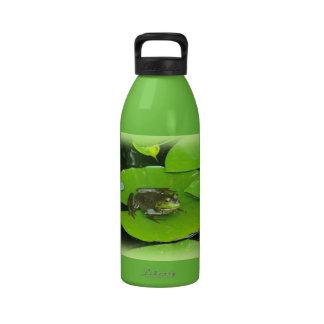 Bullfrog on Lilypads Drinking Bottles