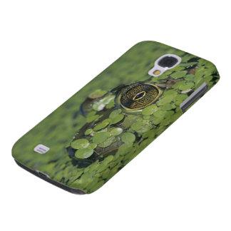 Bullfrog, Rana catesbeiana, adult in duckweed Samsung Galaxy S4 Cover