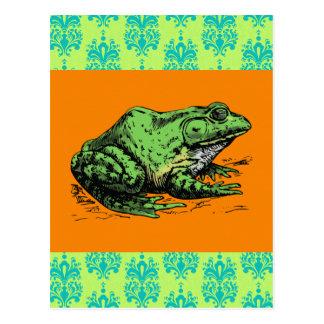 Bullfrog Watercolor Postcard