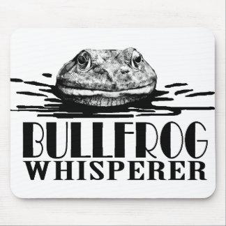 Bullfrog Whisperer Funny Frog Hunter Mouse Pad