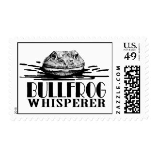 Bullfrog Whisperer Funny Frog Hunter Postage Stamp