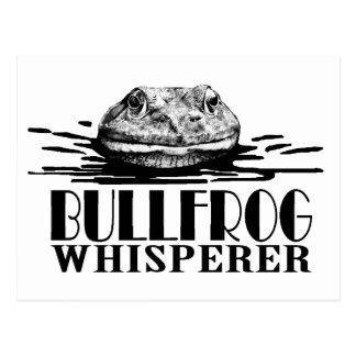 Bullfrog Whisperer Funny Frog Hunter Postcard
