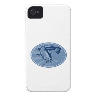 Bullhead Catfish Retro Woodcut Case-Mate iPhone 4 Cases