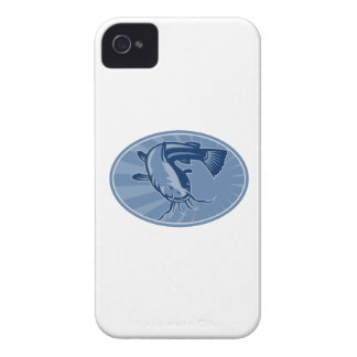 Bullhead Catfish Retro Woodcut iPhone 4 Case-Mate Case