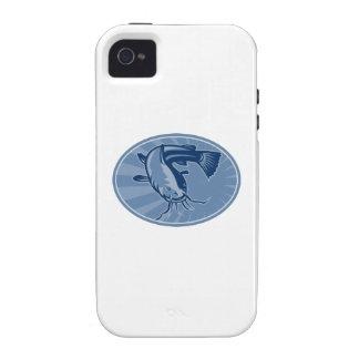 Bullhead Catfish Retro Woodcut iPhone 4/4S Cases