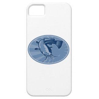 Bullhead Catfish Retro Woodcut iPhone 5 Cases