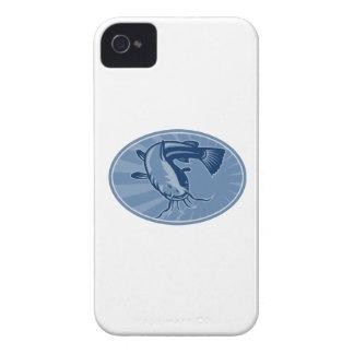 Bullhead Catfish Retro Woodcut iPhone 4 Case-Mate Cases