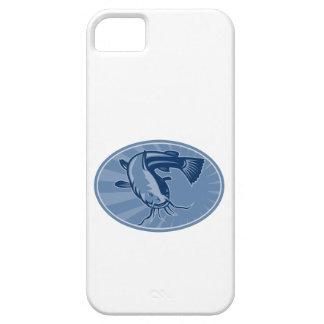Bullhead Catfish Retro Woodcut iPhone 5 Covers