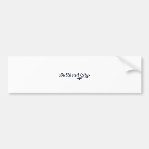 Bullhead City Arizona Classic Design Car Bumper Sticker