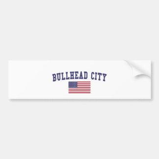 Bullhead City US Flag Bumper Sticker