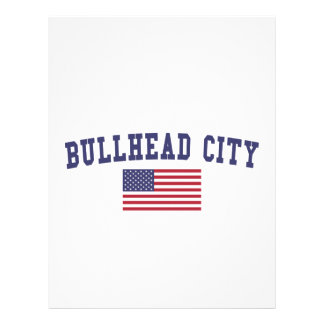 Bullhead City US Flag Letterhead
