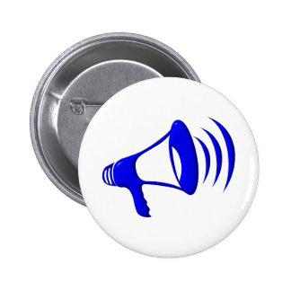 Bullhorn - Add your own words 2 Inch Round Button