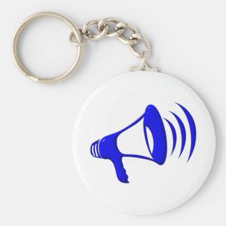 Bullhorn - Add your own words Basic Round Button Keychain