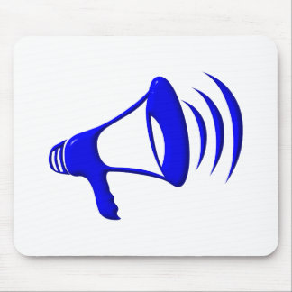 Bullhorn - Add your own words Mouse Pad