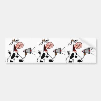 bullhorn cow scrapbook sticker car bumper sticker