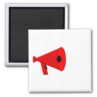 Bullhorn / Megaphone 2 Inch Square Magnet