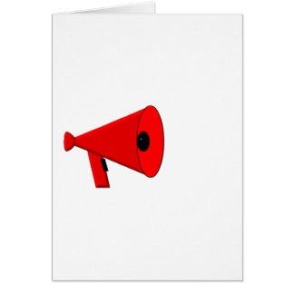 Bullhorn / Megaphone Card