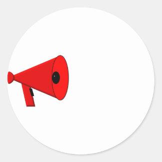 Bullhorn / Megaphone Classic Round Sticker