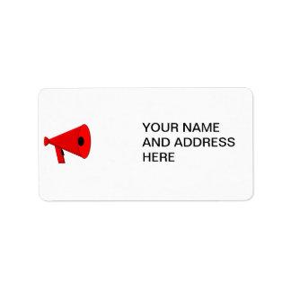 Bullhorn / Megaphone Label