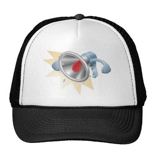 Bullhorn megaphone loudhailer shouting hat