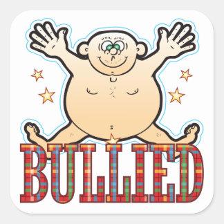 Bullied Fat Man Square Sticker