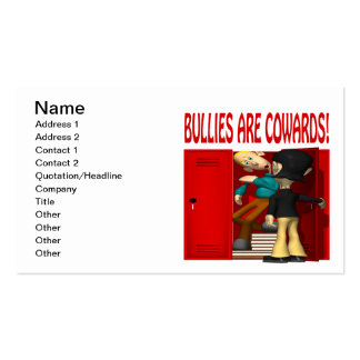 Bullies Are Cowards Business Cards