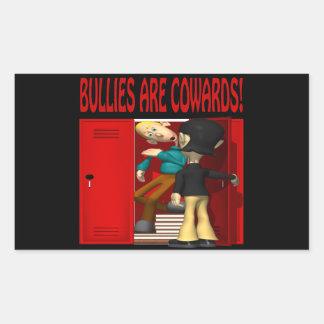 Bullies Are Cowards Rectangular Sticker