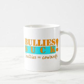 BULLIES COWARDS CLASSIC WHITE COFFEE MUG