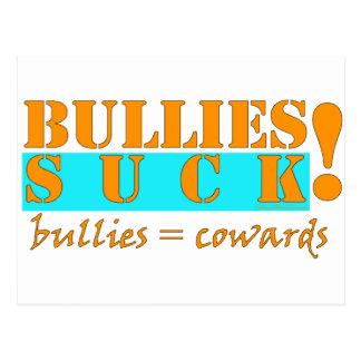 BULLIES COWARDS POSTCARD