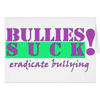 BULLIES ERADICATE CARD