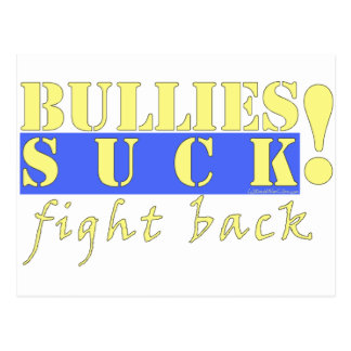 BULLIES FIGHT BACK POSTCARD
