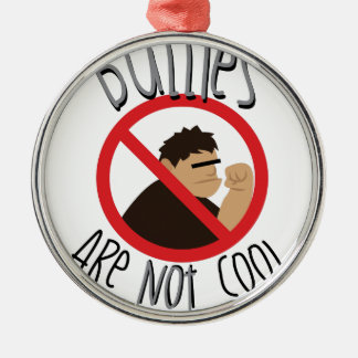 Bullies Not Cool Round Metal Christmas Ornament