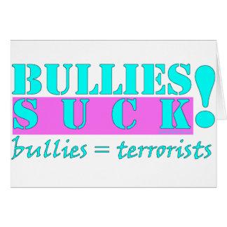 BULLIES TERRORISTS CARD