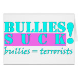 BULLIES TERRORISTS GREETING CARDS