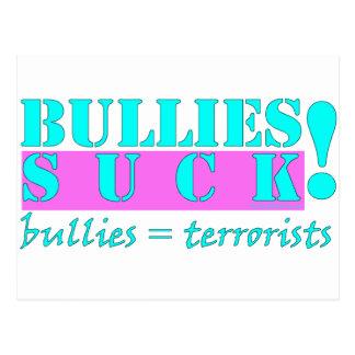 BULLIES TERRORISTS POSTCARD